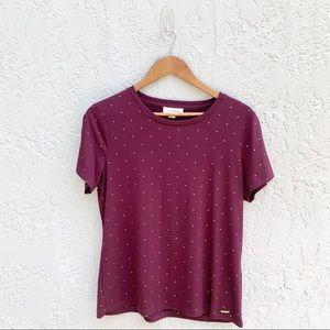 Calvin Klein Women's Stud Purple Top, Size L